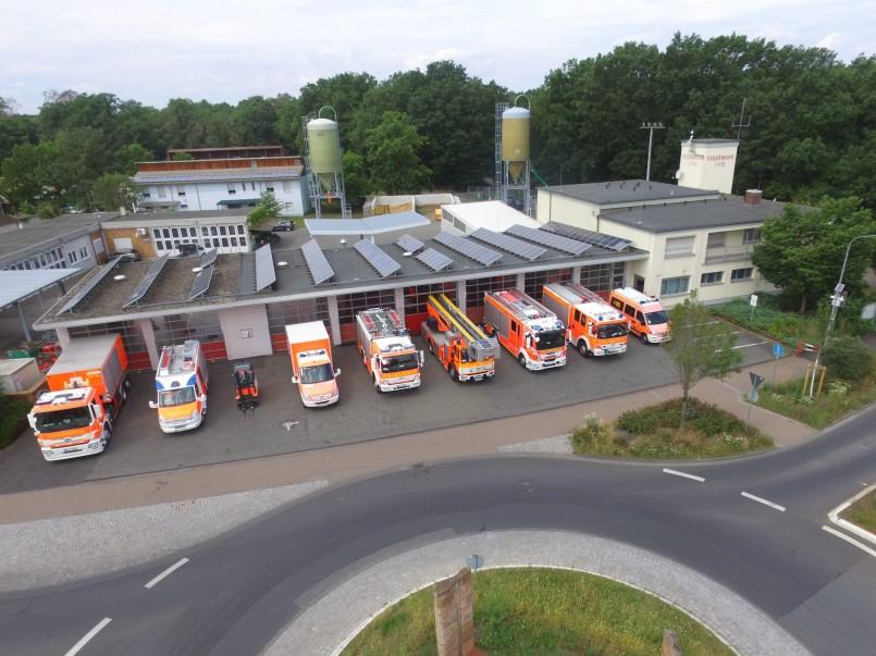 Das Feuerwehrhaus: Vorderansicht
