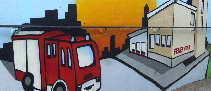 Feuerwehrhaus-Graffity